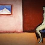 Donna seduta e finestra -130x200- 1998