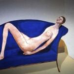 Donna su divano blu -130x200cm- 2004