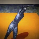 Donna al porto -130x150cm - 2001